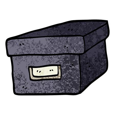 grunge textured illustration cartoon old filing box