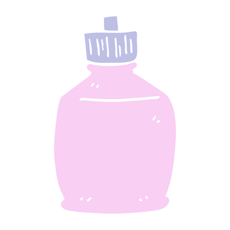 flat color illustration cartoon squirt bottle