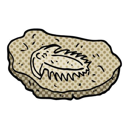 stripboekstijl cartoon oud fossiel Vector Illustratie