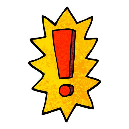 point d'exclamation de dessin animé illustration texturée grunge