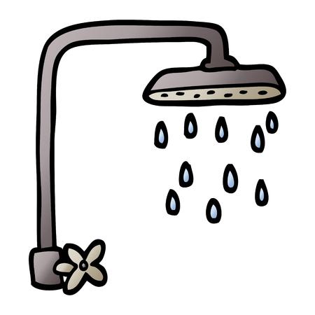 vector gradient illustration cartoon shower head