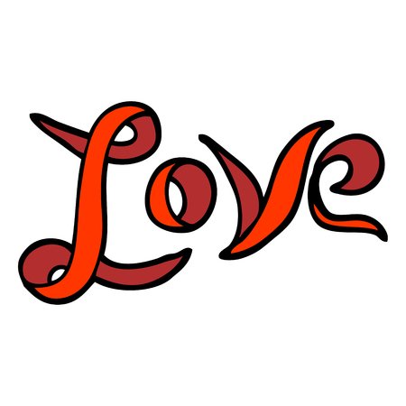 hand drawn doodle style cartoon love banner