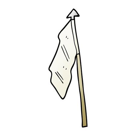 vector gradient illustration cartoon white flag 向量圖像