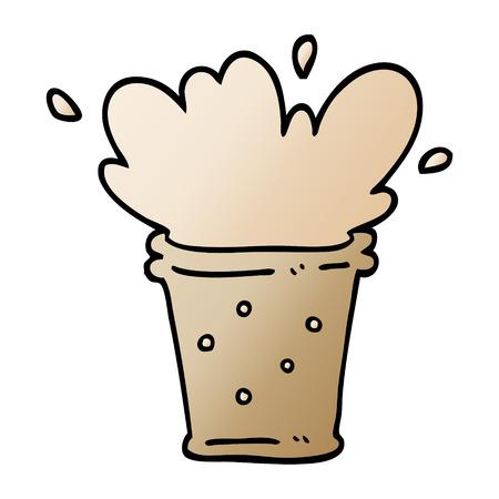 vector gradient illustration cartoon fizzy drink Illustration