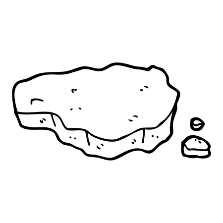 black and white cartoon old rock