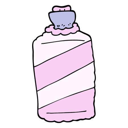 hand drawn doodle style cartoon hot water bottle Ilustração