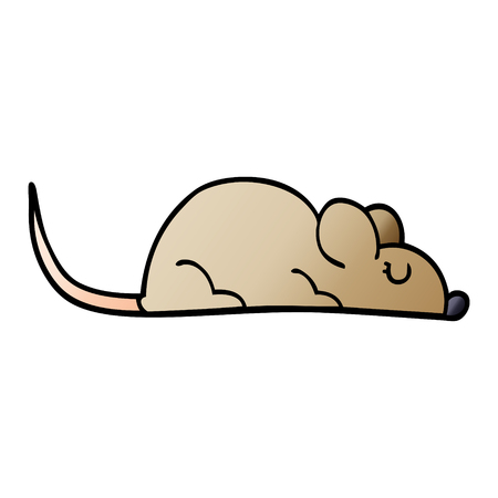 cartoon doodle little mouse Illusztráció
