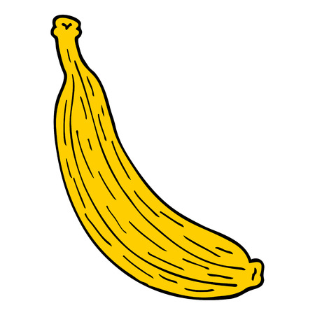 cartoon doodle yellow banana