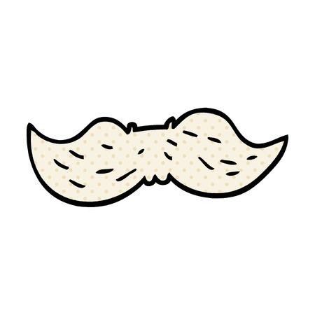 cartoon doodle mans mustache Stock Illustratie