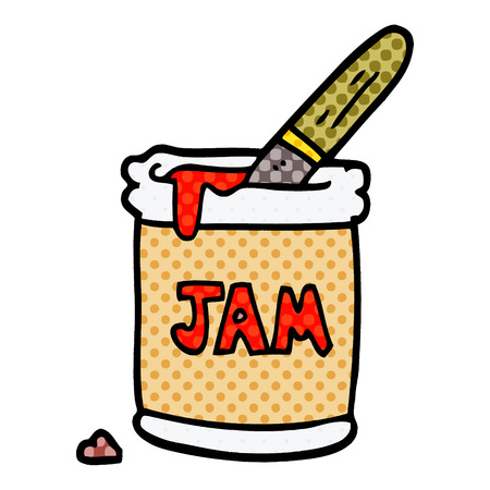 cartoon doodle jam jar