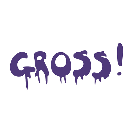 cartoon doodle font gross