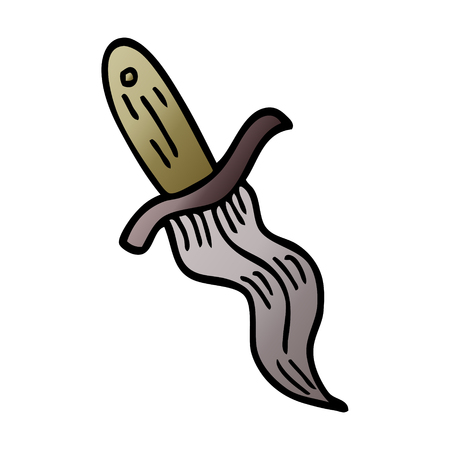 cartoon doodle tattoo dagger symbol