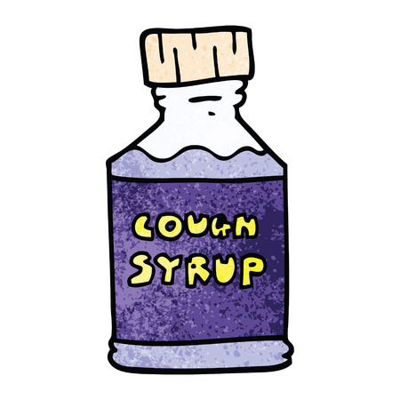 cartoon doodle cough syrup