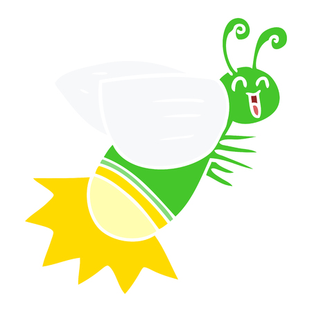 flat color style cartoon glow bug Banque d'images - 110509331