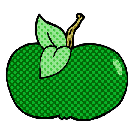 cartoon doodle juicy apple
