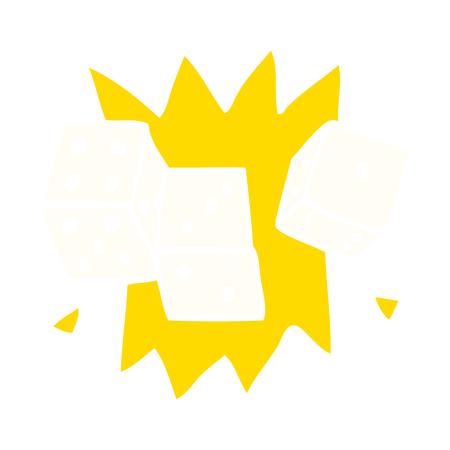 cartoon doodle lucky dice Stockfoto - 110509421
