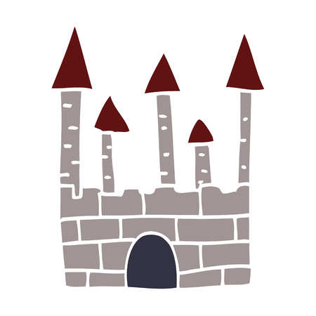 cartoon doodle traditional castle