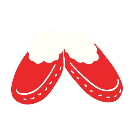 cartoon doodle comfy slippers Illustration