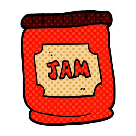 cartoon doodle jam pot Иллюстрация