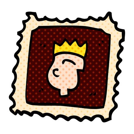 carton stamp 向量圖像