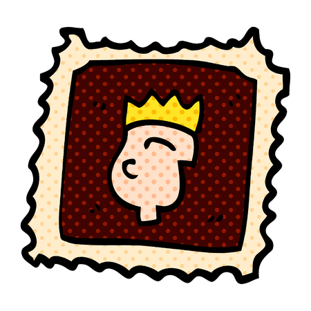 carton stamp Ilustrace