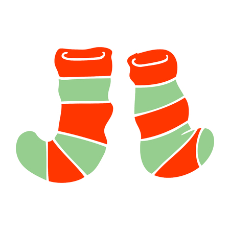 cartoon doodle striped socks
