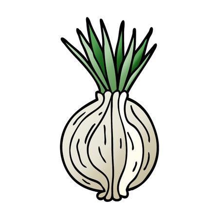 dessin animé doodle oignon germé Vecteurs