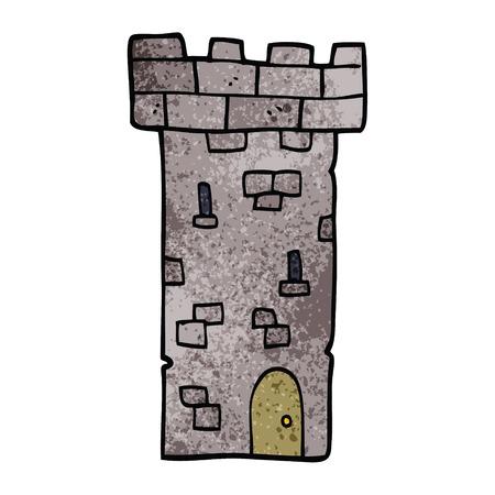 cartoon doodle castle tower