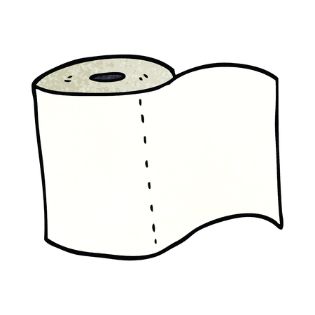cartoon doodle toilet roll Illustration