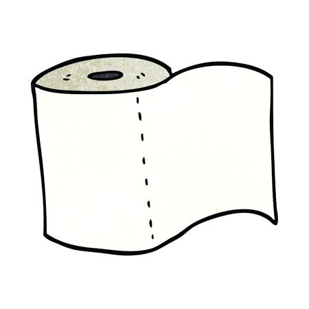 rotolo di carta igienica scarabocchio dei cartoni animati