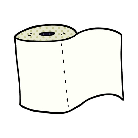 cartoon doodle toilet roll Ilustracja