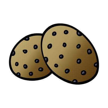 two big cartoon doodle cookies