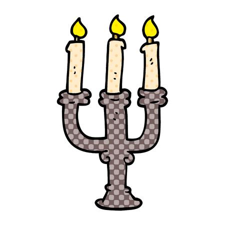 cartoon doodle spooky candles
