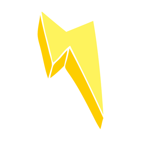 cartoon doodle decorative lightning bolt