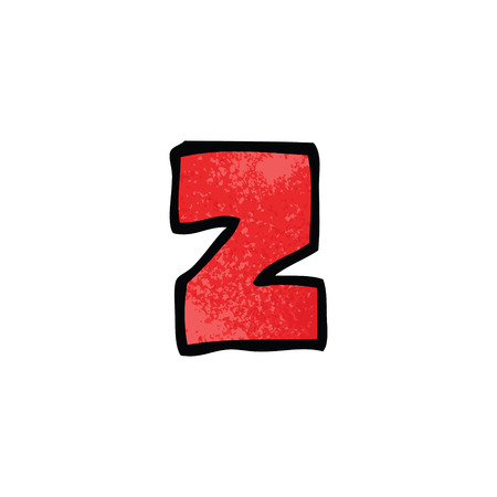 cartoon doodle letter z