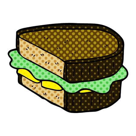 cartoon doodle loaded sandwich