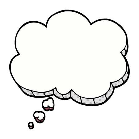 bolla di espressione di scarabocchio dei cartoni animati