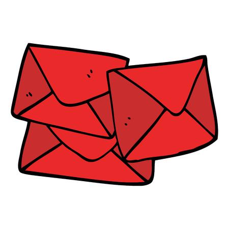 cartoon doodle letter Foto de archivo - 110509991