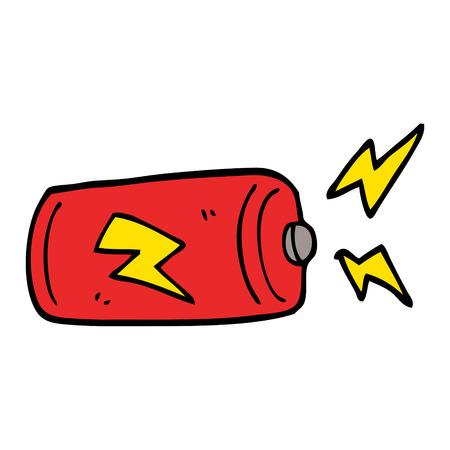cartoon doodle battery Ilustração