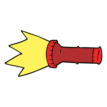 cartoon doodle electric torch