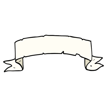 cartoon doodle scroll banner