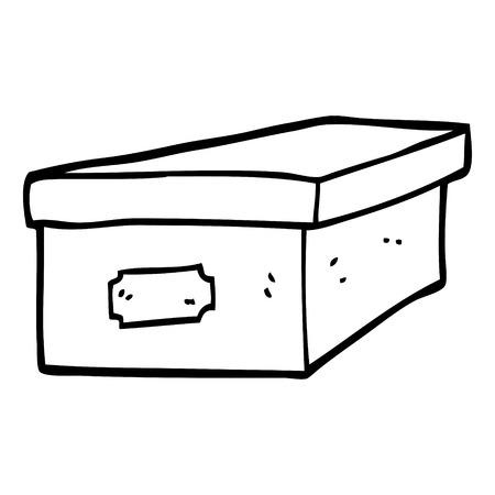 line drawing cartoon filing box Illustration
