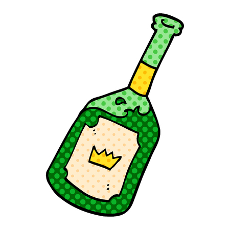cartoon doodle alcoholic drink