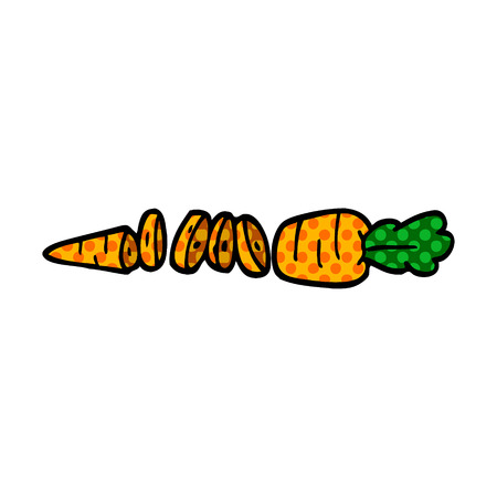 cartoon doodle chopped carrot
