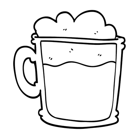 line drawing cartoon cup of blackberry Banco de Imagens - 110589638