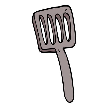 spatule de nourriture de dessin animé doodle