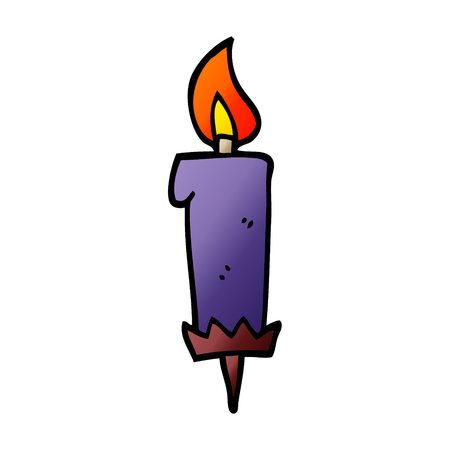 cartoon doodle birthday candle