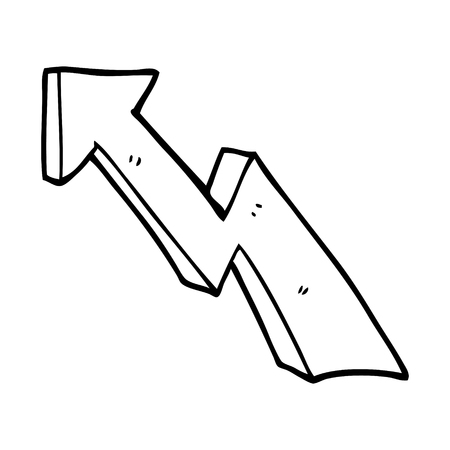line drawing cartoon rising arrow