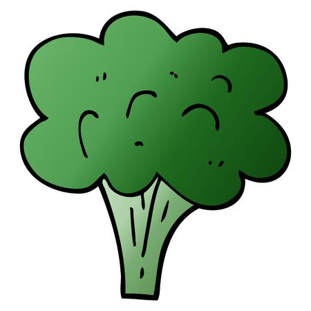 tallo de brócoli de doodle de dibujos animados
