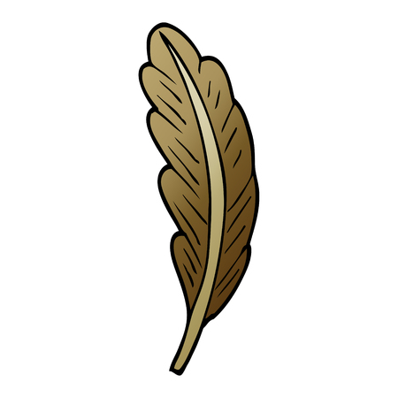 cartoon doodle bird feather 向量圖像